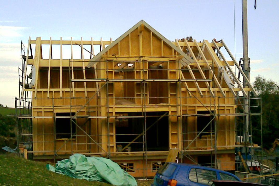 Neubauten in Holzständerbauweise